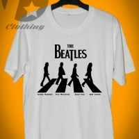 Kaos distro lengan pendek gambar the Beatles