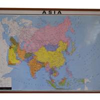 Peta Benua Asia (Bingkai)