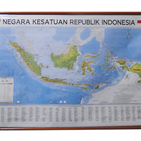 Peta Indonesia (Bingkai) Negara Kesatuan Republik Indonesia (NKRI)