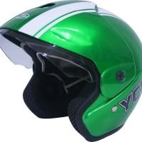 Helm Motor Cargloss Murah YCB Line Two White Vivid Green