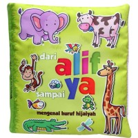 Mainan edukasi anak bayi balita unik, buku bantal mengenal Hijaiyah