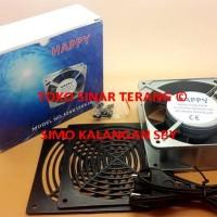 Kipas Angin AC 12*12 220V COOLER FAN Kecil Model Kotak Persegi 12 cm