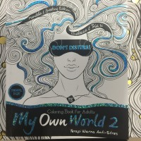 Drawing Coloring For Adults MY OWN WORLD 2 Travel Size