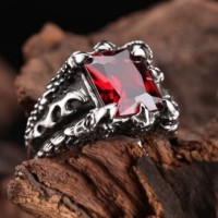 harga Luxuriouz Titanium Ruby Flame Claw Ring / Cincin Titanium Tokopedia.com