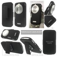 Samsung Galaxy K Zoom S5 Zoom C111 C115 - Beltclip Hybrid Case with Ro