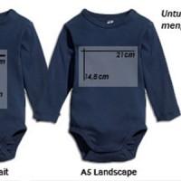 Sablon Baju/ print baju /bikin baju bayi / baby jumper,