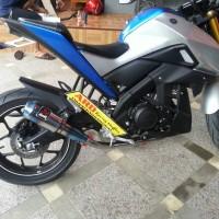 Knalpot Yamaha Xabre 150 Fs Akrapovic Gp Half Blue (Pnp)