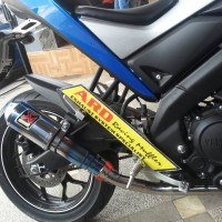 Knalpot Akrapovic Half Blue Fs Yamaha Xabre150, Xabre (Pnp)