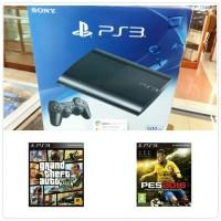 PS3 SUPERSLIM NEW CECH-4306C PAKET BD PS3 PES 2016 + GTA 5 NEW