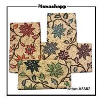 kain batik katun A8302 / batik modern / lawasan / print / cokelat