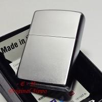 Zippo Regular Satin Chrome All Side 205 Lighter Original Korek Api USA