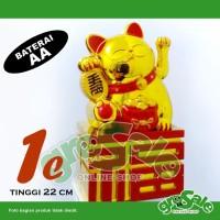 Jual Kucing Hoki 1C-Maneki Neko-Lucky Cat-Keberuntungan-Gold Murah