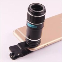 Jual Lensa Tele Zoom 12x Wide70 - F20MM Clip Jepit, untuk Smartphone & Tab Murah