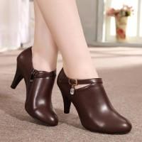Jual sandal sepatu wanita boots heels keren elegan Murah