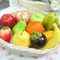 buah untuk pajangan jus/buah contoh etalase/buah mainan/buah-buahan