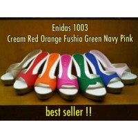 ENIDAS 1003 White Green Fuchia Cream Orange Pink Navy Black