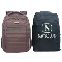Tas Sekolah/Ransel Laptop/Outdoor Navy Club 5829 Brown (+Raincover)