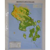 Peta Provinsi Sulawesi Tenggara (Bingkai)