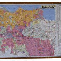 Peta Kota Tangerang (Bingkai)