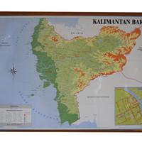 Peta Provinsi Kalimantan Barat (Bingkai)
