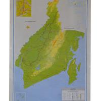 Peta Provinsi Kalimantan Selatan (Bingkai)