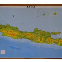 Peta Pulau Jawa (Bingkai)