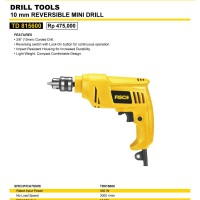 Mesin Bor Mini Reversible Drill FISCH 10mm TD815600