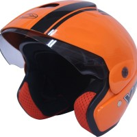 Helm Motor Cargloss Murah YCB Line Two Black Nitric Orange