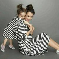 Jual Cp Dress Salur Mom Kid Couple ibu dan anak Baju Keluarga Murah
