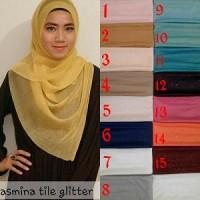 Ready sist Jilbab Hijab Pashmina Tile Glitter