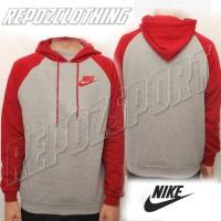 jaket sweater hoodie jumper red grey nike terbaru terlaris