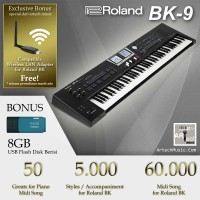 Roland BK9 / BK-9 / BK 9 Backing Keyboard - Garansi Resmi