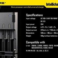 Nitecore i4 100% ORIGINAL Intellicharger Universal Charger 4 Slot