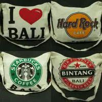 Souvenir Khas BALI - Tas Slempang kain Blacu Barong/Penari/I Love BALI