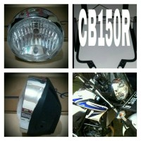 harga Breket Lampu Pesek Honda Cb150 R + Lampu Std 7in Tiger Revo Tokopedia.com