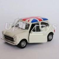 Miniatur Mobil Mini Cooper 1300 (Moris) krem skala 1/36 Nex