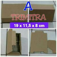 KOTAK KARDUS KECIL | DUS SEPATU | POLOS | BOX PACKING UK.19x11,5x8 cm