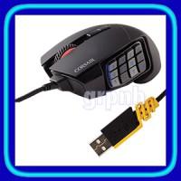 Corsair Scimitar RGB Optical MOBA / MMO Gaming Mouse - Black