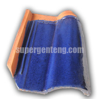 Genteng Morando Glazur Biru Metalik