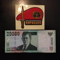 harga Stiker Sticker Topi Baret Merah KOPASSUS untuk Mobil Motor Tokopedia.com