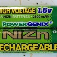 BATERAI RECHARGEABLE POWERGENIX NIZN 1,6V 2500mAh
