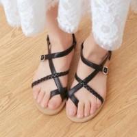 harga sepatu sandal cewek wanita kerja kuliah sekolah gift pantai kepang Tokopedia.com