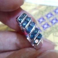 Cincin Wanita Berlian Biru 0260 Blue Diamond