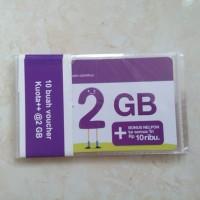 Voucher Three 2GB, Kuota Internet 3 data Tri 2 GB 24 Jam + Pulsa 10rb