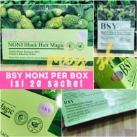 [ box besar isi 20 sachet ] BSY Noni BPOM black hair shampo