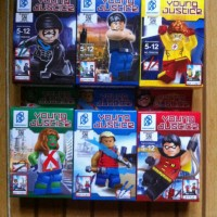 lego china young justice batman, superman, robin