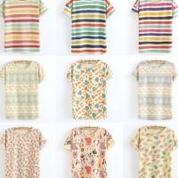 Kaos Baju Fashion Wanita Shirt Kemeja Blouse Atasan Korea New 2015231
