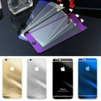 Tempered Glass KBOX Iphone 5 Depan Belakang Gold Silver 5G 5S
