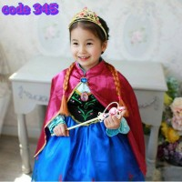 harga BAJU DRESS ANNA FROZEN JUBAH PINK IMPORT 345 Tokopedia.com