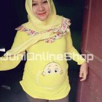 harga Baju Hamil Unik BabyPocket Kuning Maternity T Shirt - Juni Online Shop Tokopedia.com